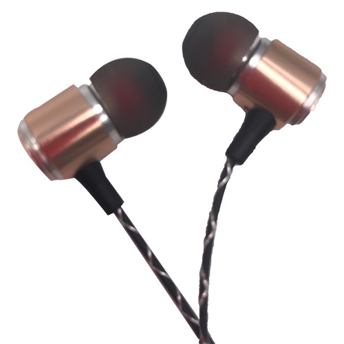 Gold High-End Earphone Headset