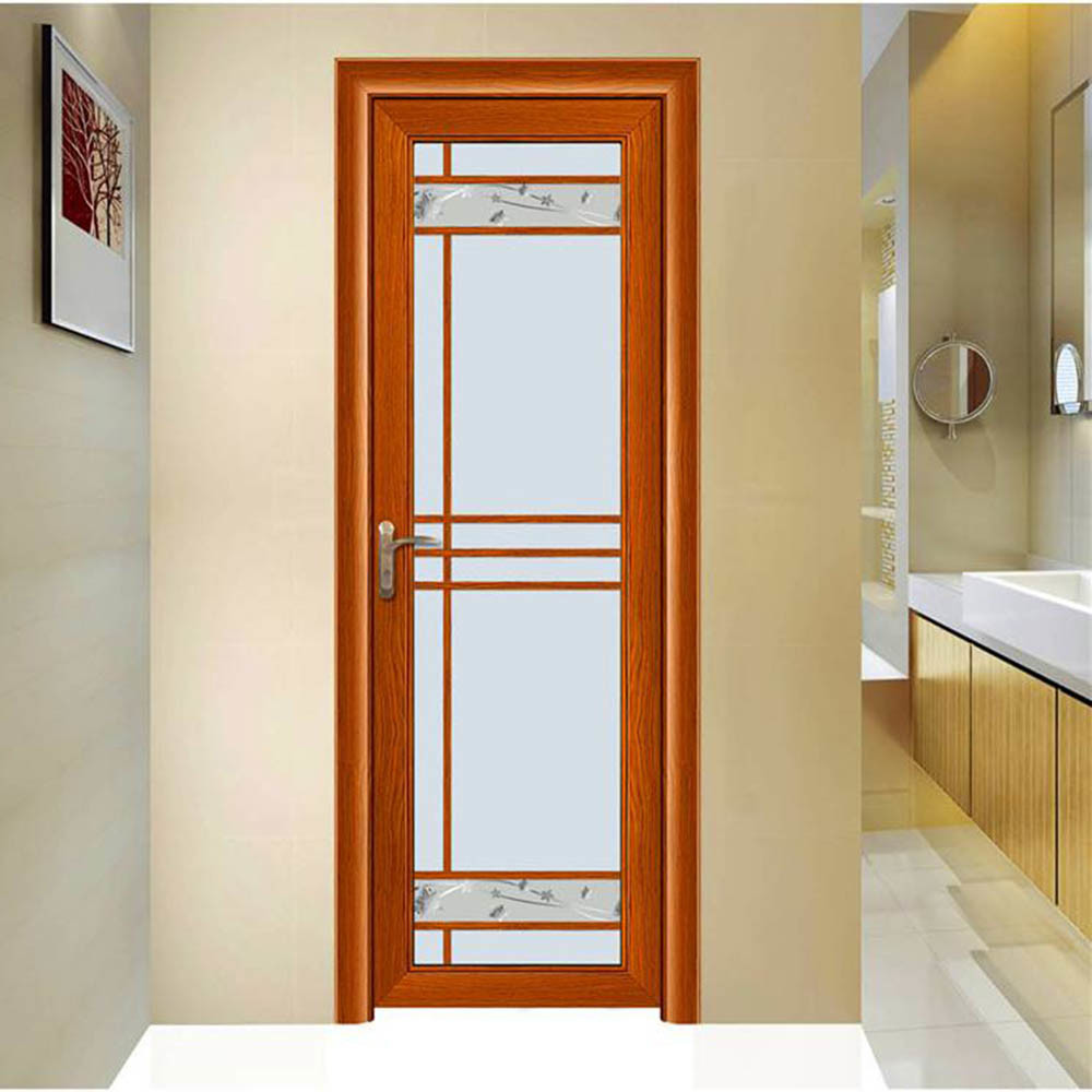 China Export Internal Decorative Glass Storm Bathroom Doors Aluminum Door