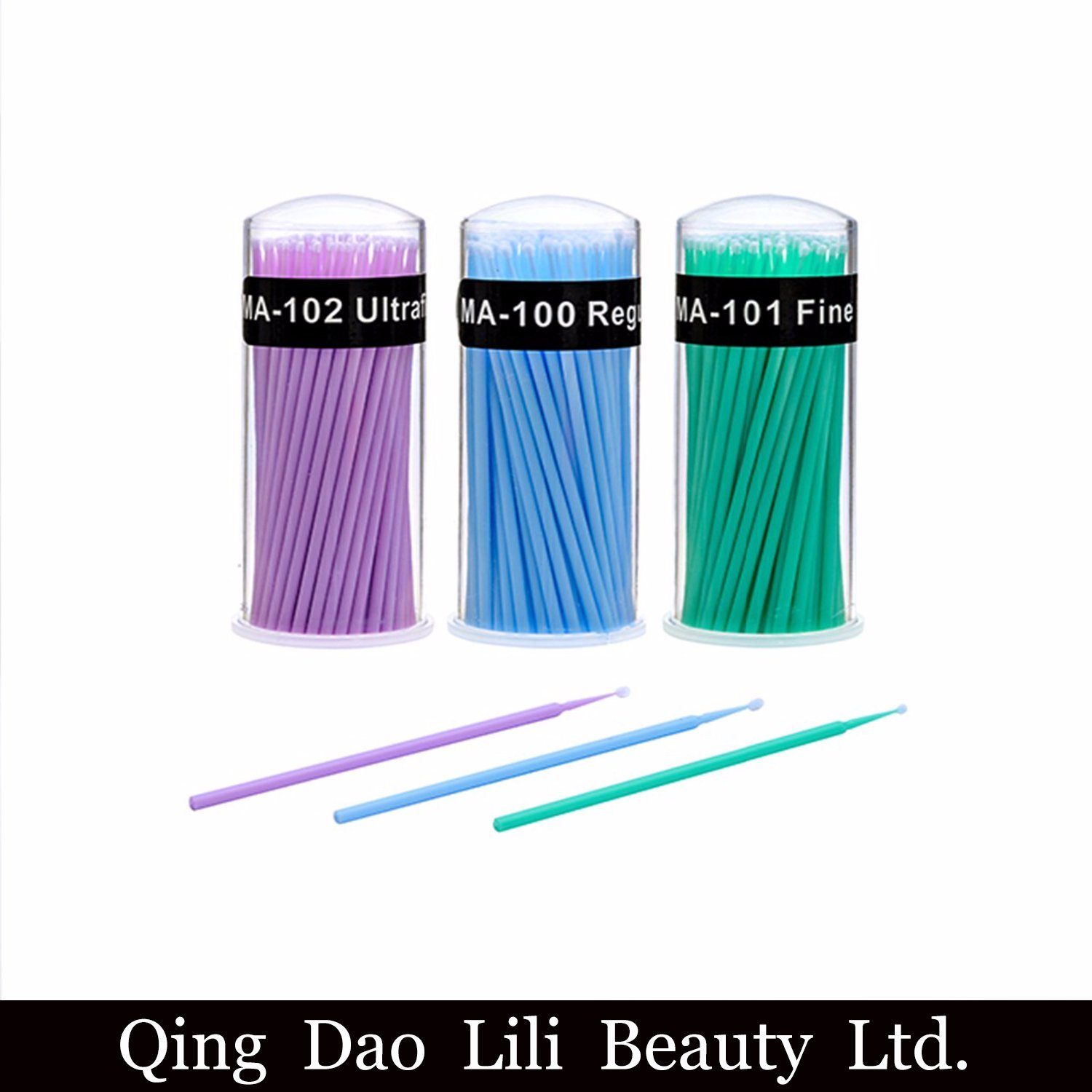China Disposable Makeup Brushes Lint Free Micro Brushes Eyelash