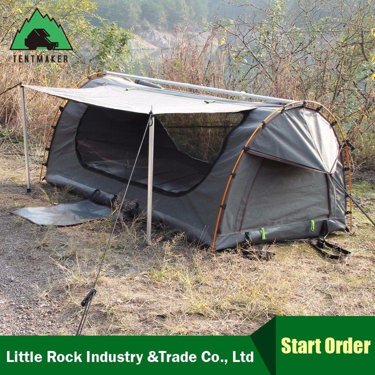 China Single/Double Swag Tent Family Outdoor Swag Large Canvas Tents for Sale/Folding C&ing Tent/C&ing Equipment - China Australia Swag Tent ... & China Single/Double Swag Tent Family Outdoor Swag Large Canvas ...