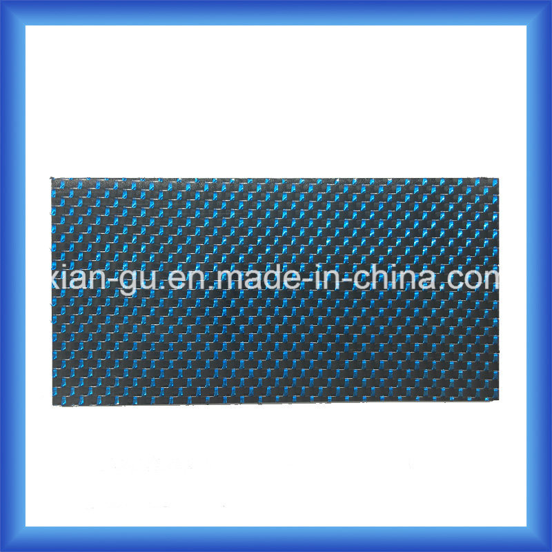 China Blue & Silver Wire Carbon Fiber Plate - China 2.0mm 3k Carbon ...