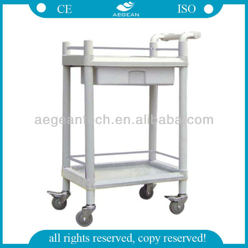 AG-Uta08 with Pushing Handle Hospital Crash Cart Medical Trolleys