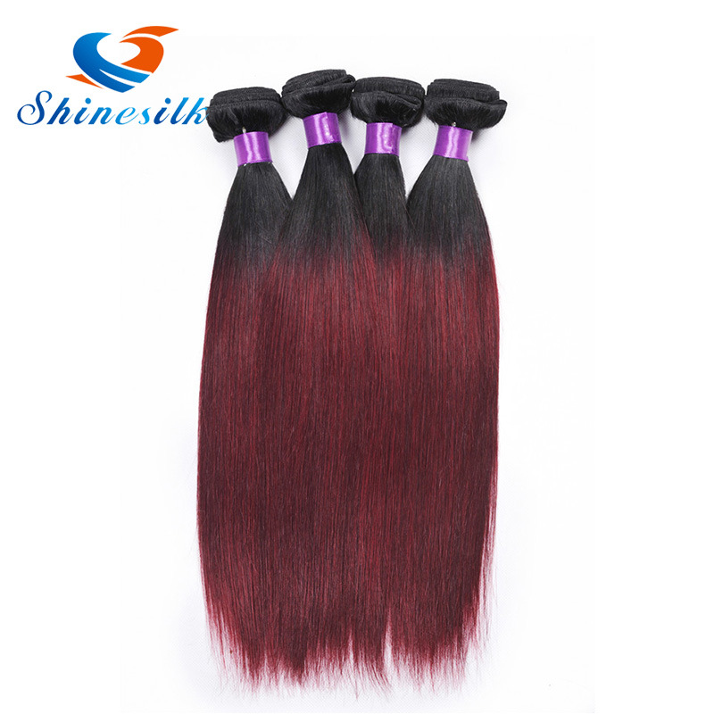 China Ombre Brazilian Hair Straight 1b 99jburgundy Brazilian Hair 3