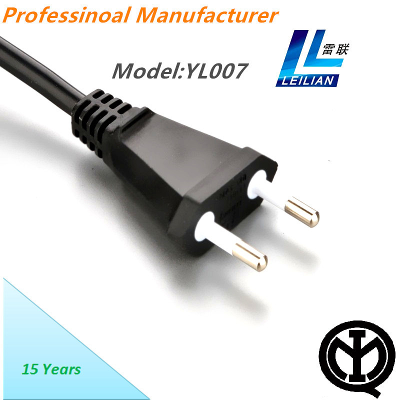 China Italy Type Power Cord Plug Imq 2 Pins 10A 250V - China Power ...