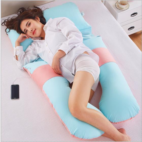 Polyester Pregnant Side Sleepers U Shaped Maternity Pillow pictures & photos