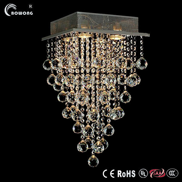 Led Iron Gauze Crystal Chandelier