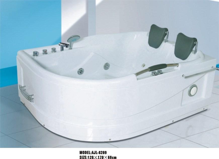 China Luxurious Double Bathtub (AJL-8209) - China Massage Bathtub ...
