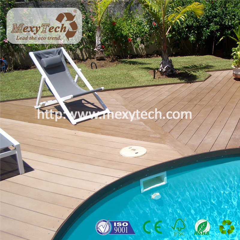 China Balcony Patio Swimming Pool Wood Plastic Composite WPC Decking ...