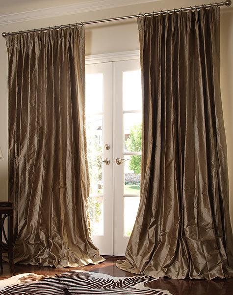 China Silk Pinch French Pleated Drapery China Curtains