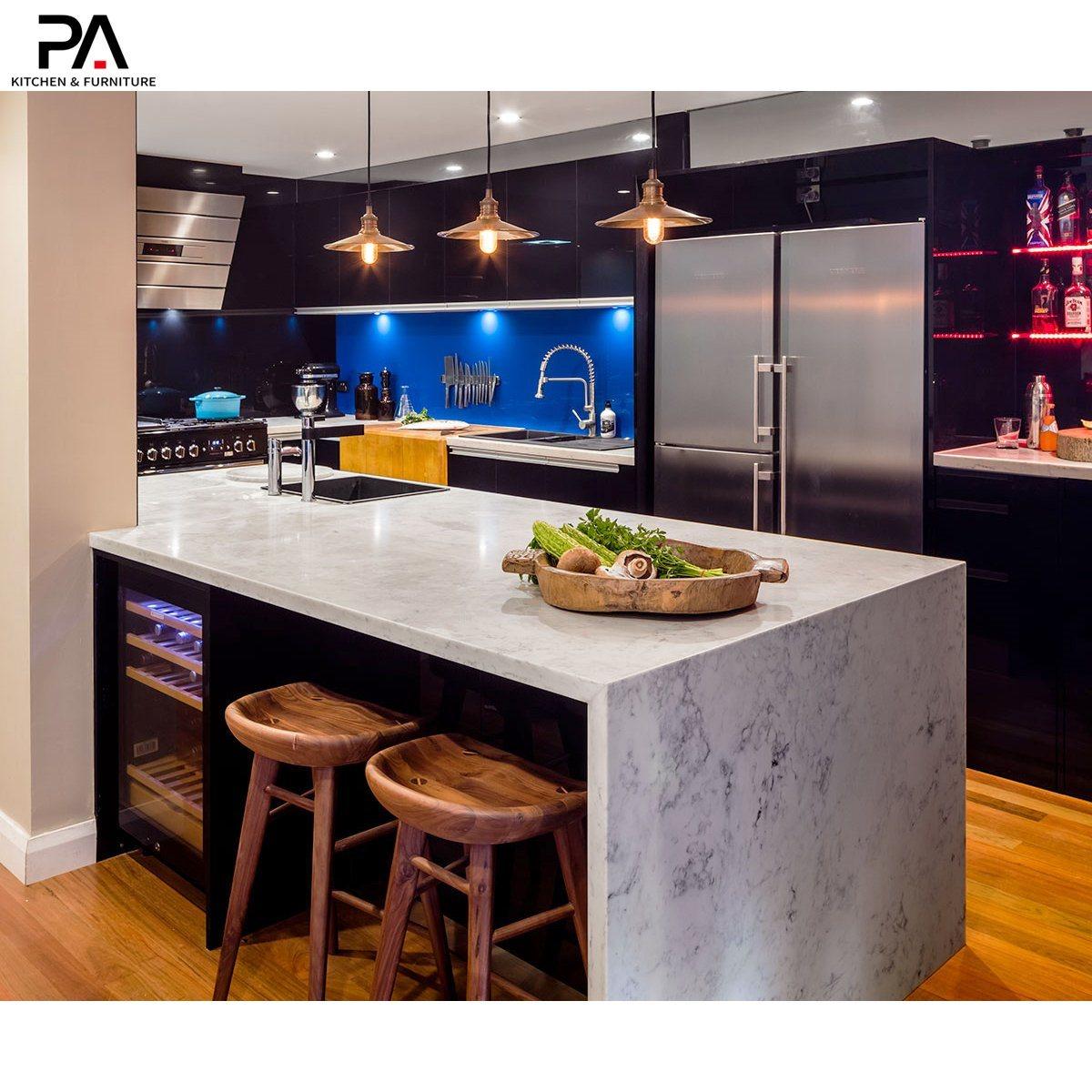 China Standard Modern Sleek European High Gloss Black Kitchen Cabinets China Kitchen Cabinet Modular Kitchen Cabinet