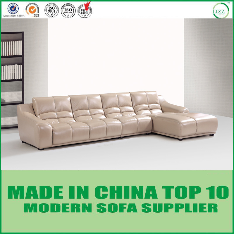 [Hot Item] Modern Contemporary Leather L Shape Sofa Furniture