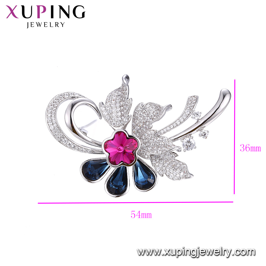 00134 Fashion Colorful Leaves Design Crystals From Swarovski Jewelry Brooch pictures & photos
