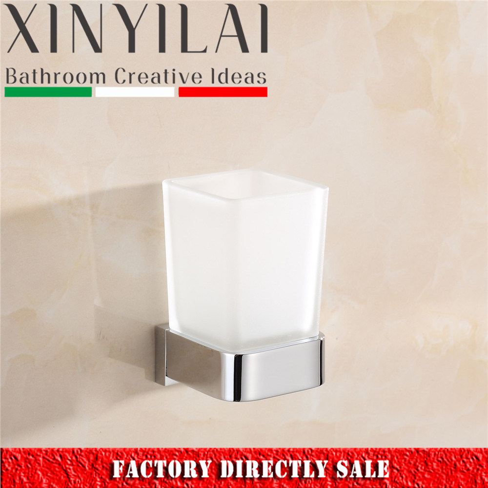 China German Modern Chrome Solid Brass Tumbler Holder for Bathroom ...