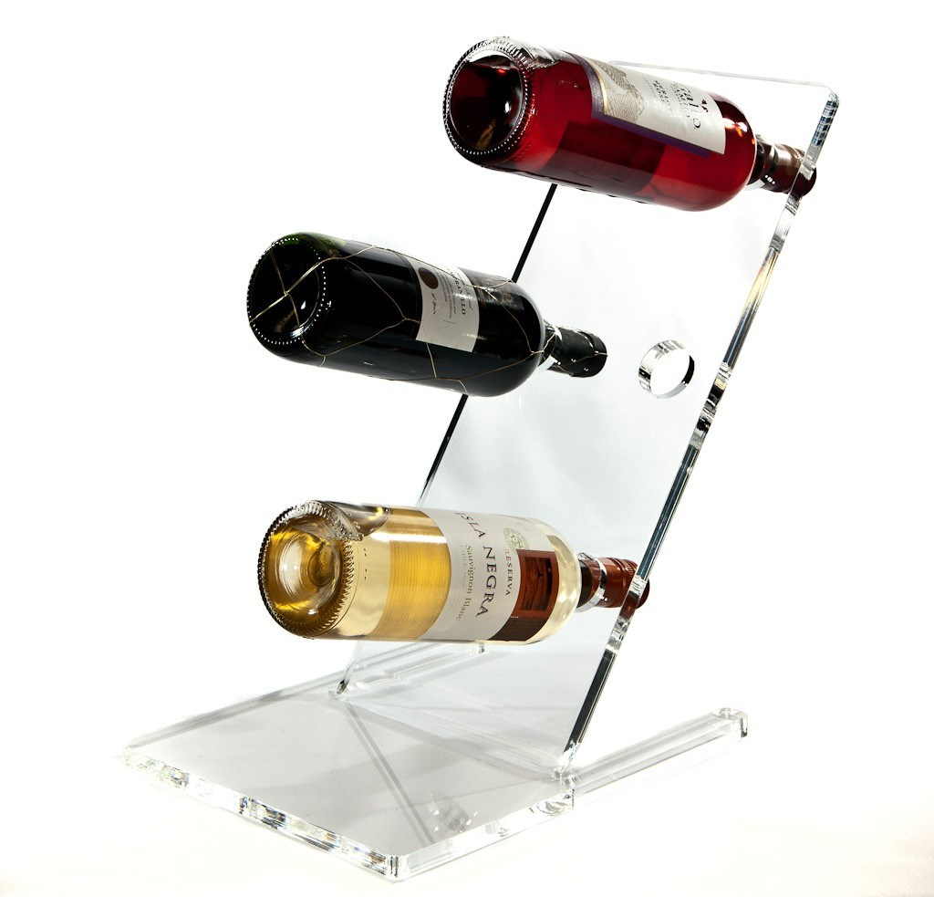 plastic clear rack cb interior bottle wine