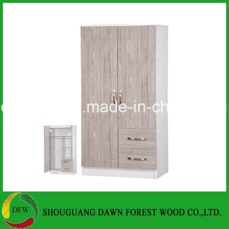 watch 30539 d6d5e [Hot Item] 2 Door Wardrobe /2 Drawers Combi / Grey Oak High Gloss & Black  Ash