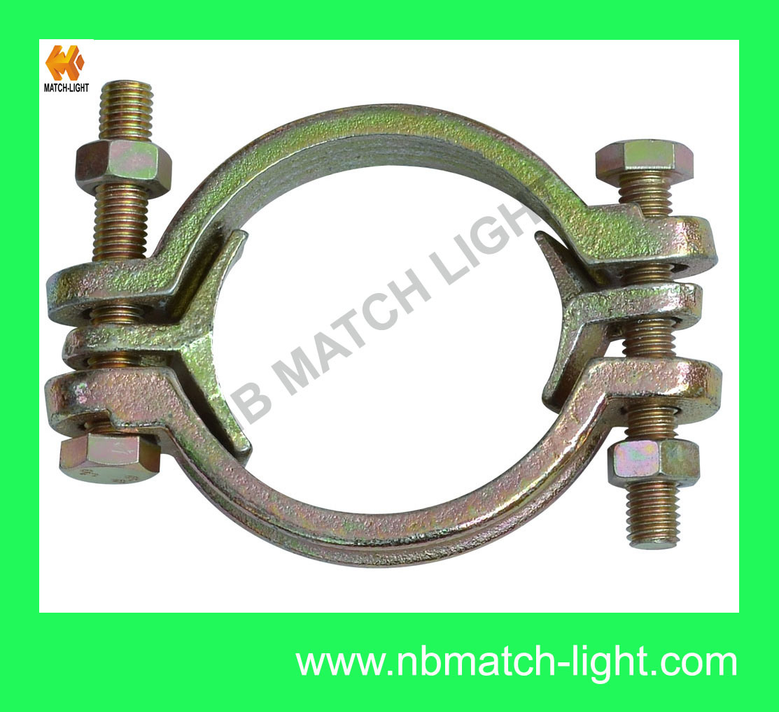 Types Of Clamps >> Hot Item Round Clamps Types Carbon Steel Zn Plated Double Bolt Clamp