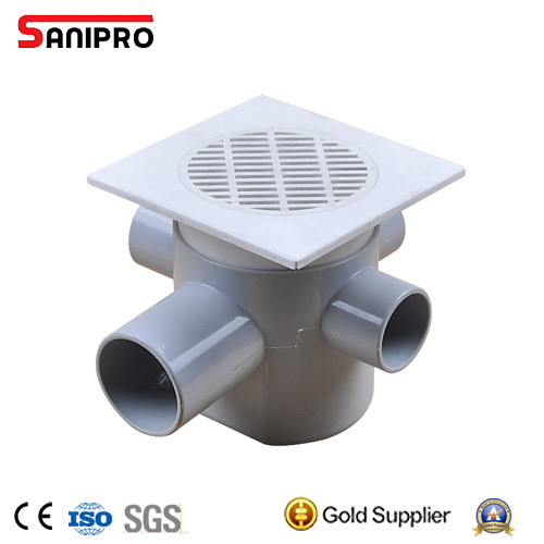 China Plastic Balcony Floor Drain Strainer Grate China