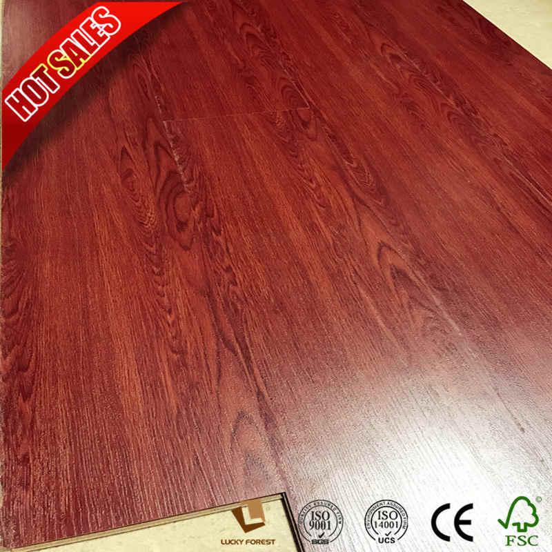 China U Groove Laminate Flooring German Technology 12mm Hardwood Building Material