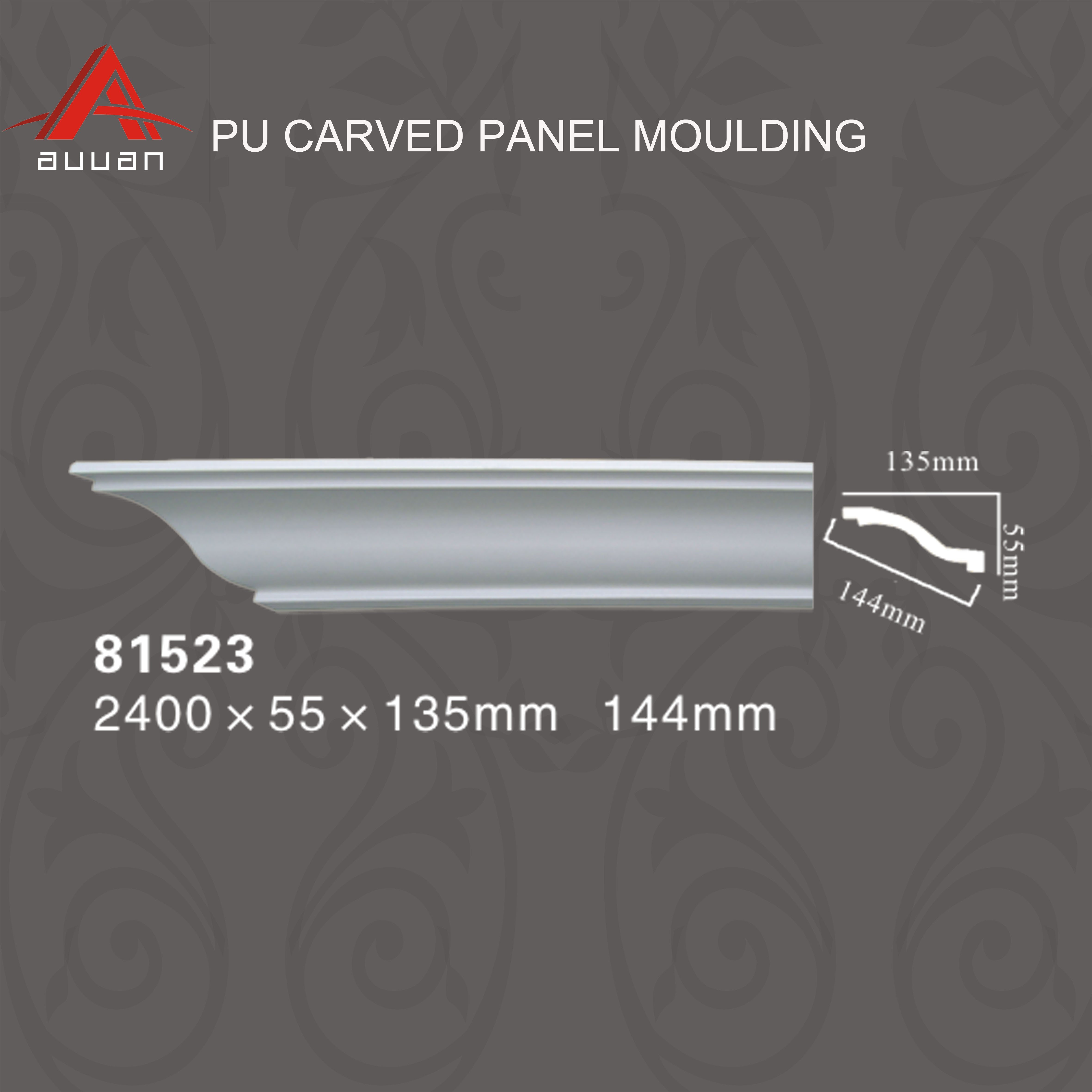 81523 Low Cost Simple Pu Cornice Decorative Crown Molding In China