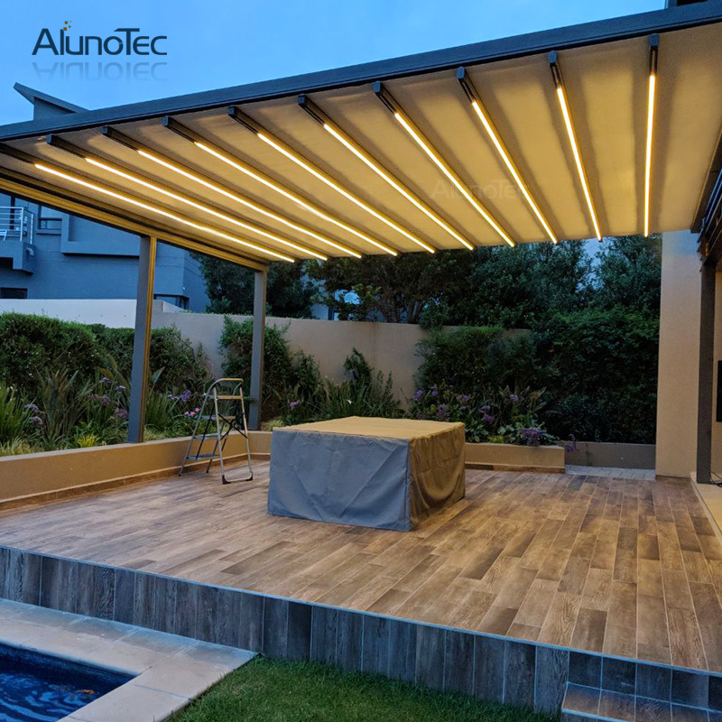 China Low Cost Retractable Roof Retractable Modern Awning Design With Louvered Roof Photos Pictures Made In China Com