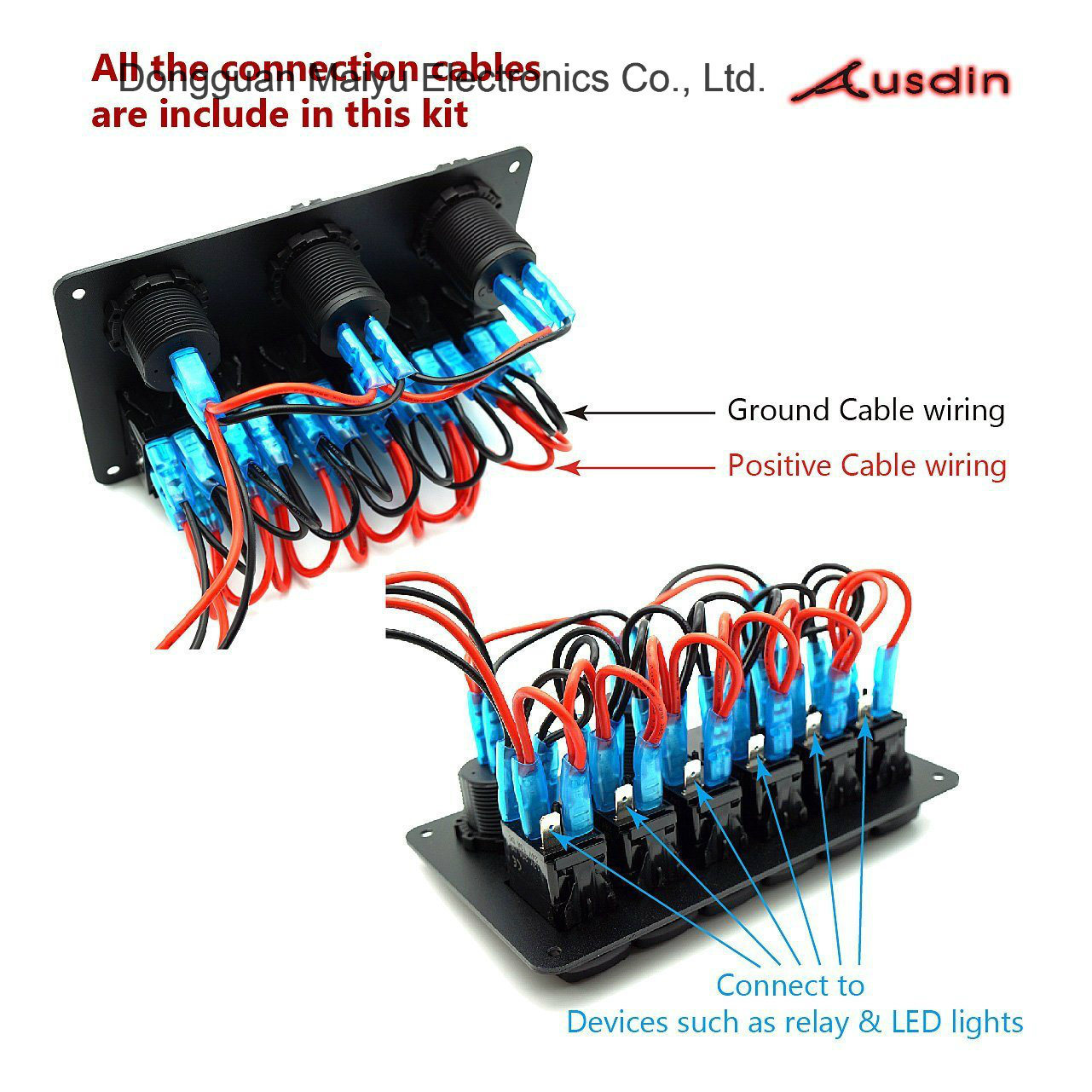 China Led Light Bar Switch Panel 6 Gang Rocker Switch Panel Photos Pictures Made In China Com