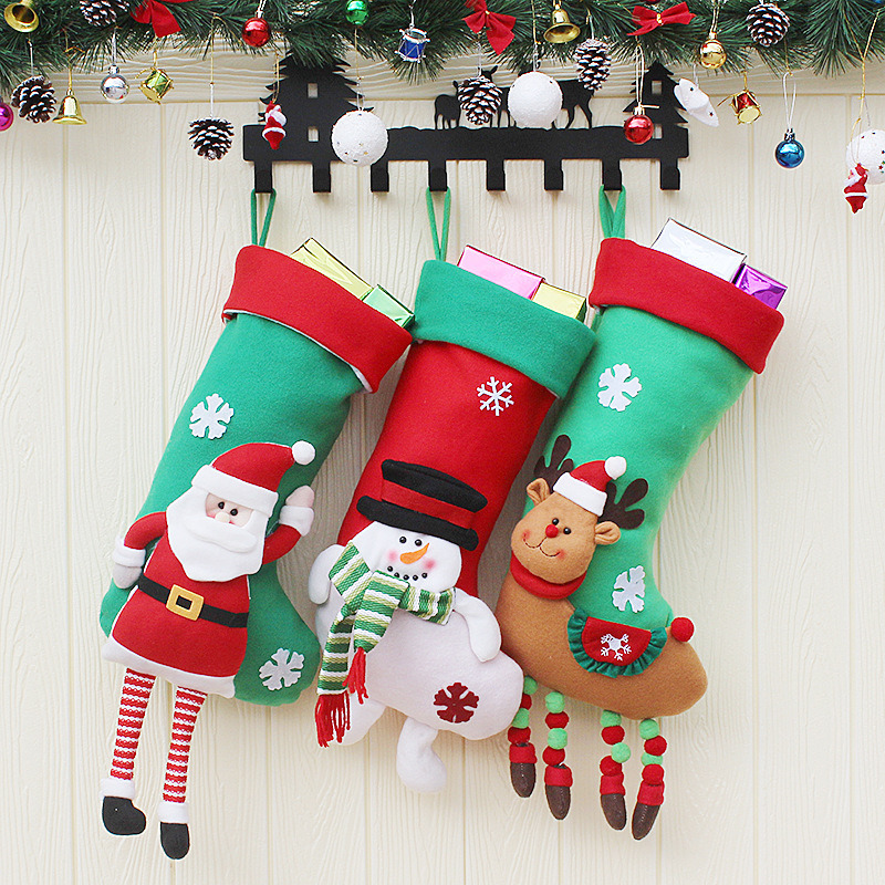 China Wholesale Christmas Decorations Santa Claus Pendant Christmas Decorations Christmas Candy Bags Christmas Socks China Christmas Socks And Christmas Decoration Price