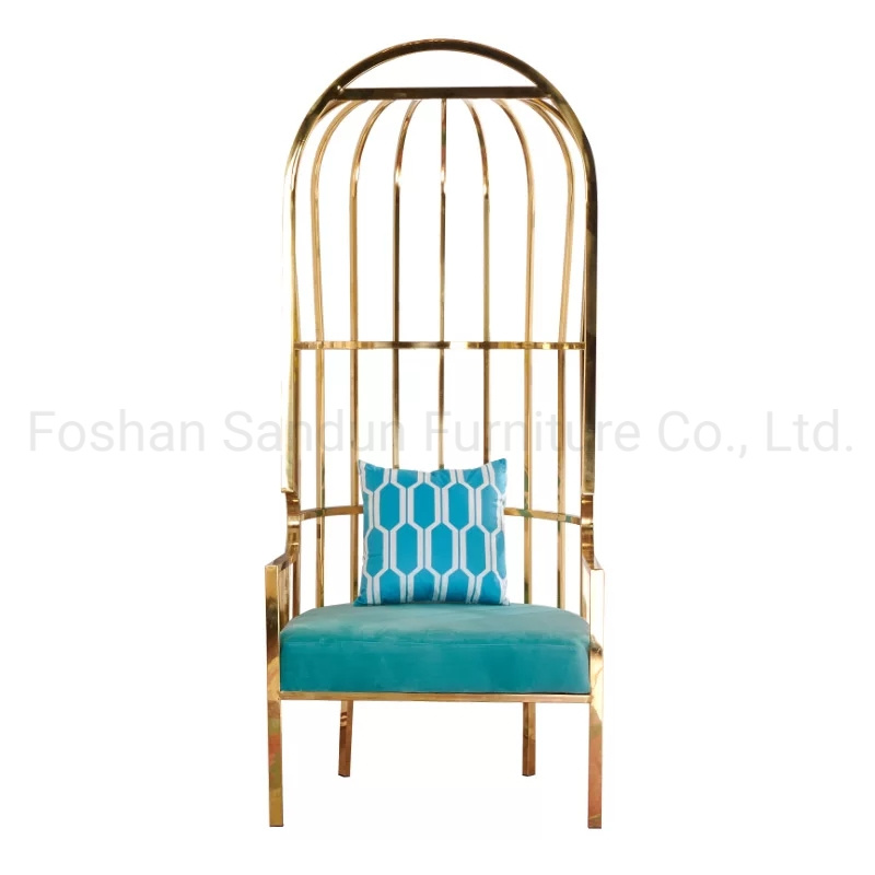 Stainless Steel Luxury Popular Gold Royal Chair Wedding Event Furniture pictures & photos