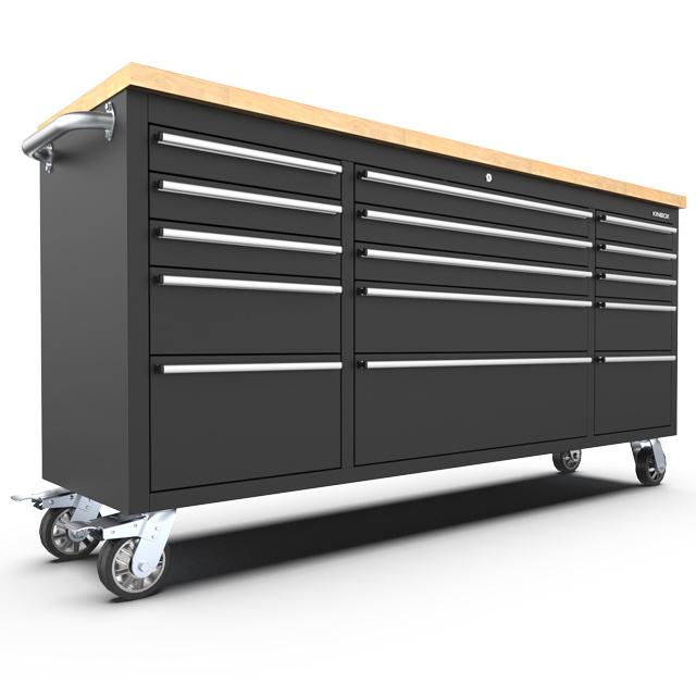 15 Drawer Stainless Steel Tool Trolley, 72 Tool Cabinet