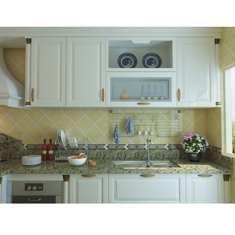 Hot Item 2019 Ghana Style Cheap Mdf Kitchen Cabinets For Africa Market