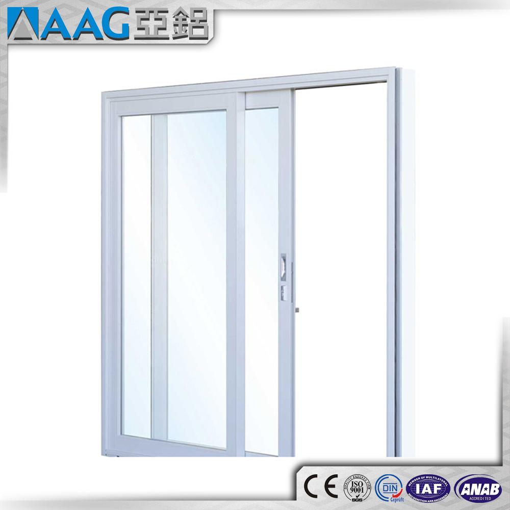 China Aluminium Sliding Double Glass Outside Door With Locks China