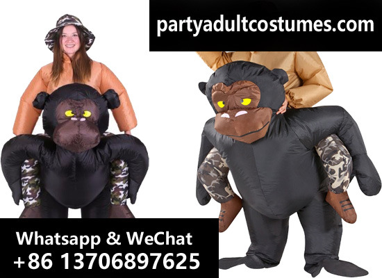 china lyjenny riding gorilla adult inflatable ride on costumes boys girls for festival fancy dress halloween christmas pary carnival dress china