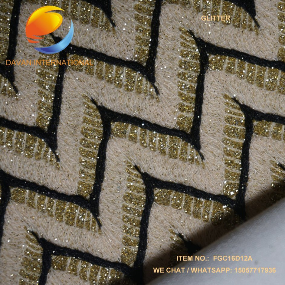 PU Leather for Shoes Bags, Glitter Effect