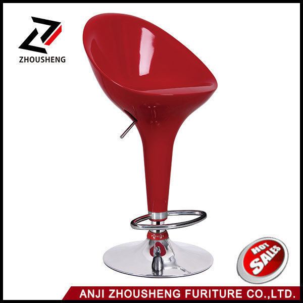 Cheap Chromed Base Bar Stool Chair with Pedal Swivel Bar Chair Used for Night Club Furniture