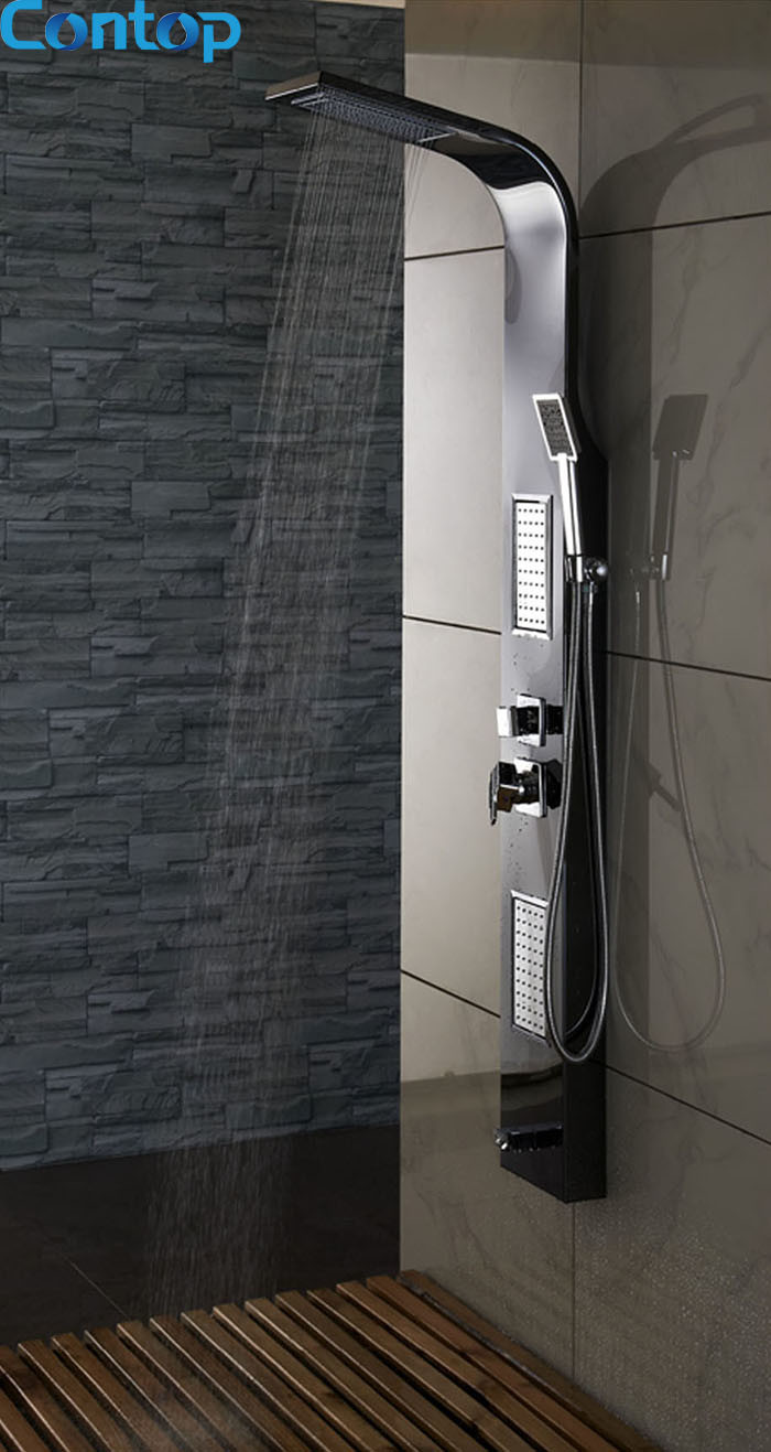 China Quality Bathroom Stainless Steel Mirror with Black Titanium ...