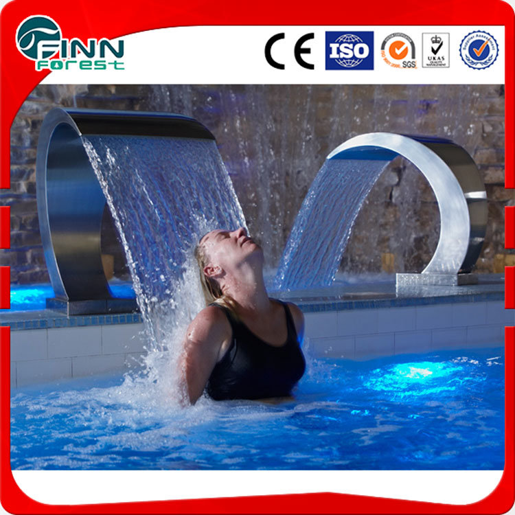China Fenlin Stainless Steel Shower Massage Swimming Pool Waterfall