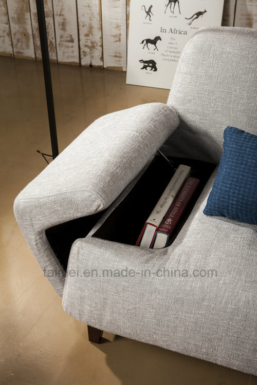 Italy Fashion Concise Fabric Sofa with Storage pictures & photos