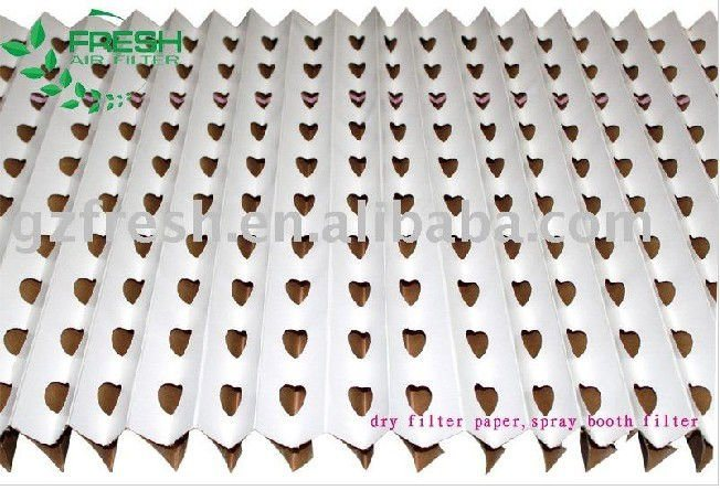 china cardboard spray booth pleated air filters kraft folding filter