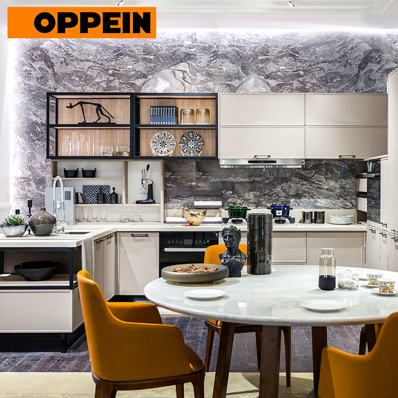 China Oppein Pvc Membrane Wall Cabinet Modern Kitchen Cabinets China Modern Kitchen Cabinets Wall Cabinet