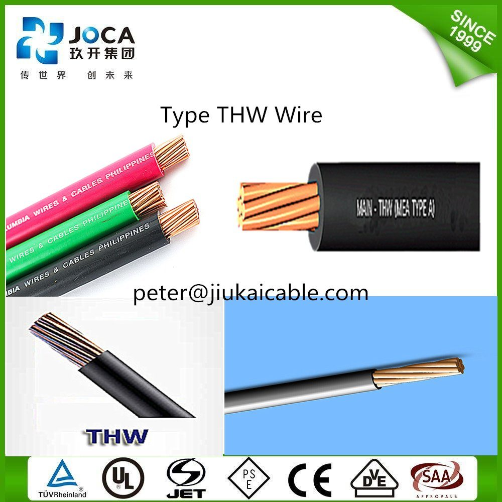 China High Quality Thw Cable AWG 8 PVC Copper Power Wire - China Thw ...
