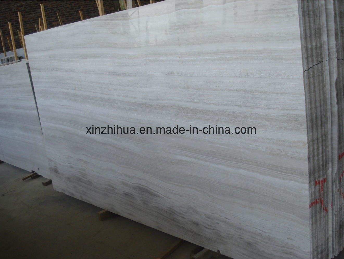 High Quality White Wood Marble, Timber White, Wooden White, Building Material Grain Marble pictures & photos