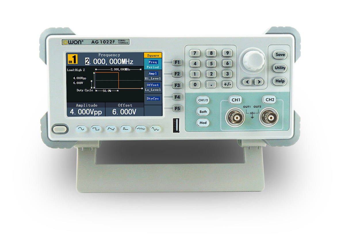 OWON 25MHz Dual-Channel Modulated Arbitrary Waveform Generator (AG1022F)