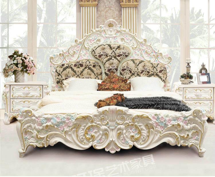 china luxury french style nandmade bedroom furniture (3901d) - china luxury bed, french style