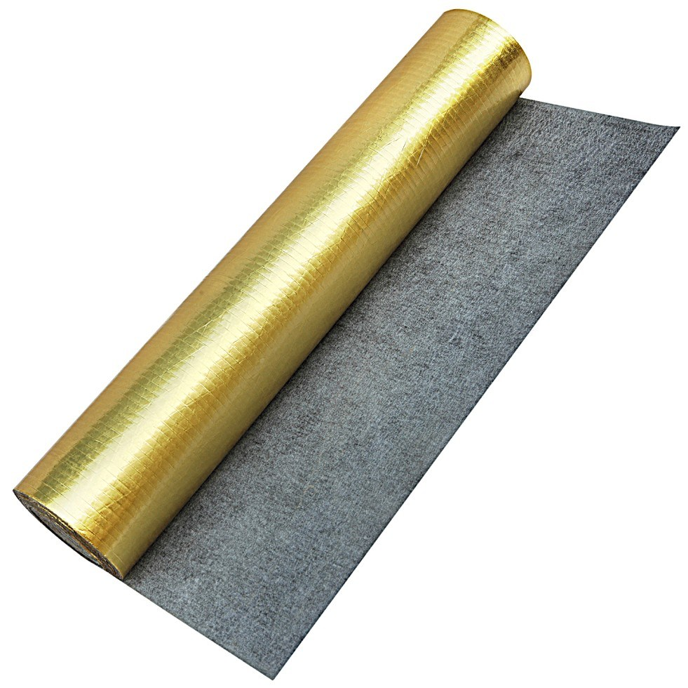 China Acoustic Rouber Underlayment With Gold Foil For Laminate Floor