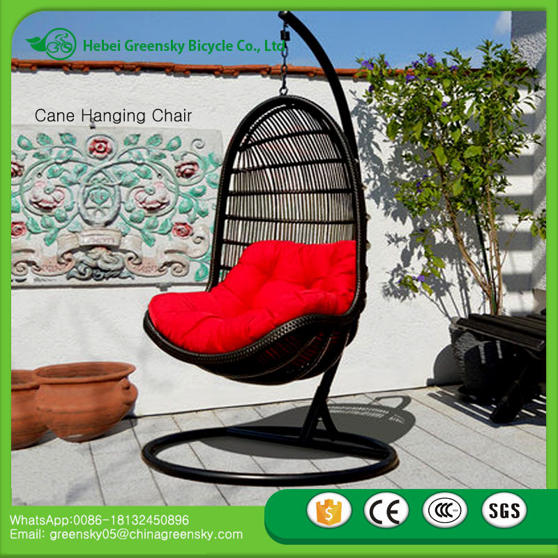 2017 Chinese Hot Supply Indoor Bamboo Swing Chair Cane Hammock Hanging Pod China Rattan Pe