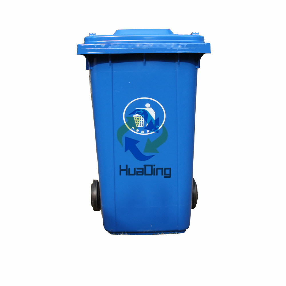 240L Plastic Garbage Bin Rubber Wheel Can for Outdoor pictures & photos
