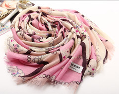 a23bee30604 [Hot Item] Inner Mongolia Cashmere Wool Products Factory Whole Sale Ladies  Winter Warm Printed Woolen Scarf Shaw