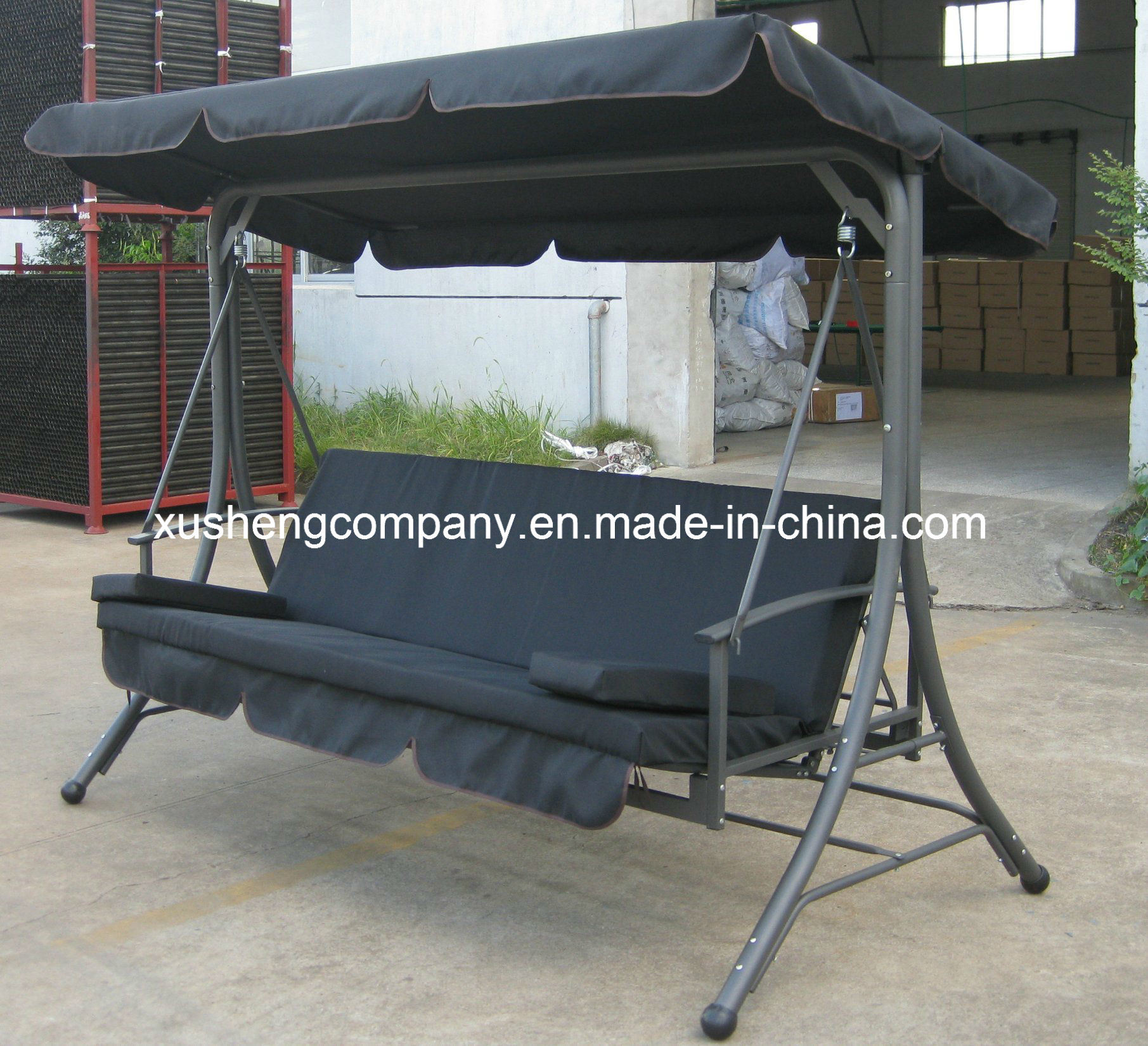 Picture of: China Luxury High Quality Outdoor Garden Swing Chair With Pillows China Garden Swing Chair Swing Bed