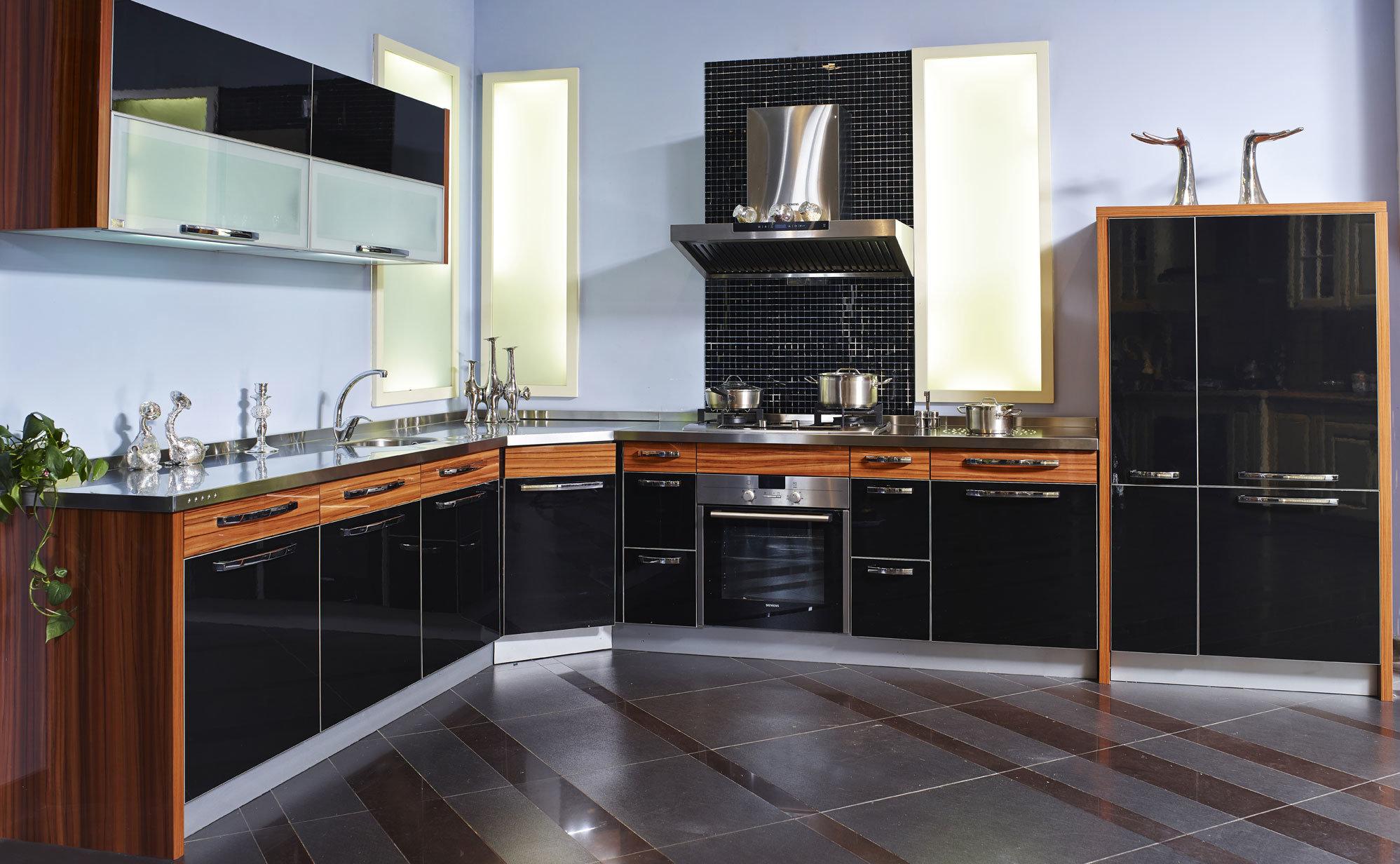 Hot Item Kitchen Cabinet Door From 18mm Flower Uv Sheet Zx 033