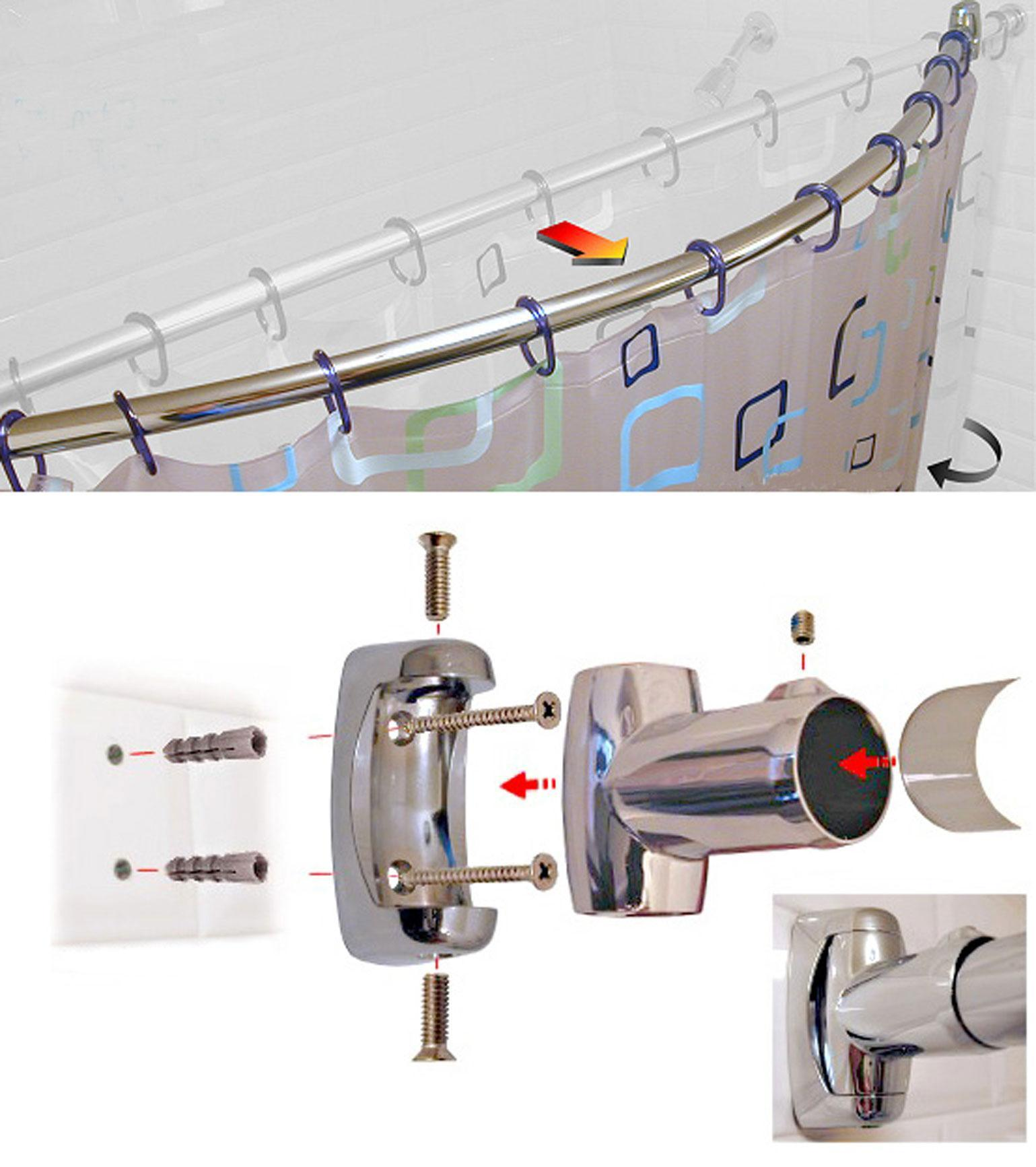 Hot Item Curved Shower Curtain Rod