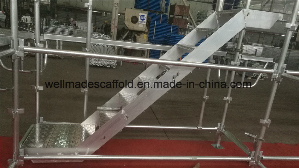 China Australia Kwikstage Scaffolding Aluminium Stair W/ Handrail   China  Stairs, Step Ladder
